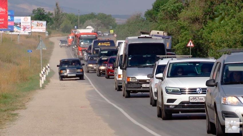 Пробки возле Феодосии