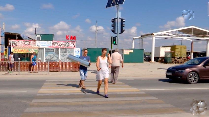 Пешеходные переходы через Керченскую трассу в Феодосии