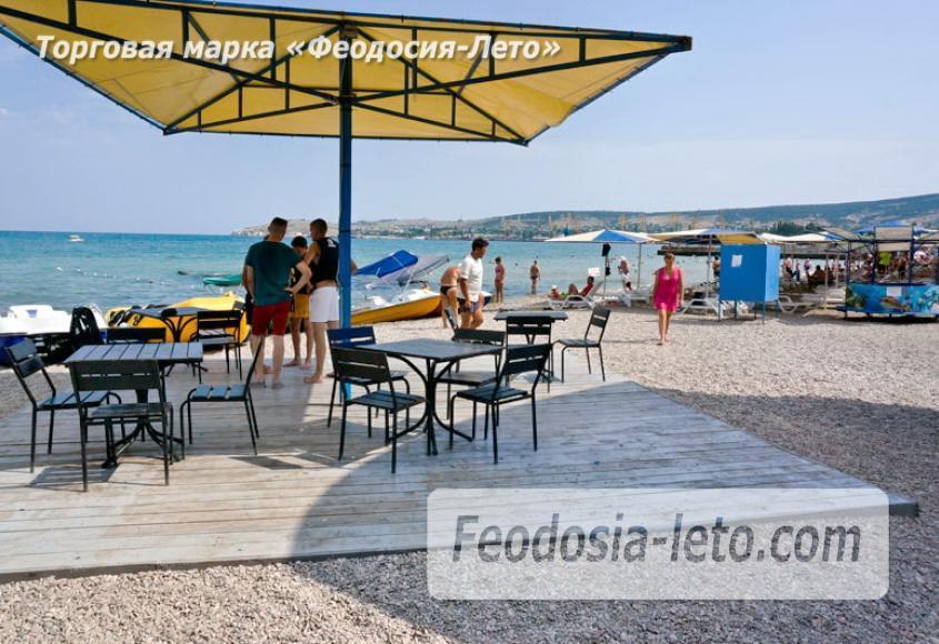 Центральный пляж Камешки в Феодосии - фотография № 4