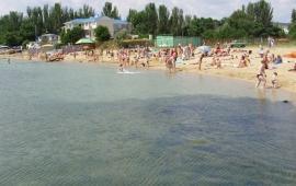 Пляж стадиона Динамо в Феодосии