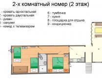 2-комнатный номер с кухней на 2 этаже - фотография № 1