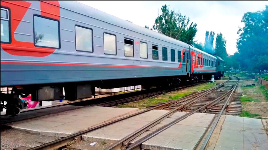 Прибытие поезда в Феодосию