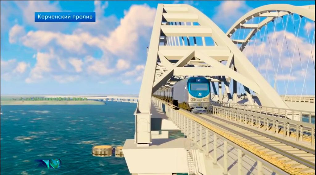 Движение поездов по мосту