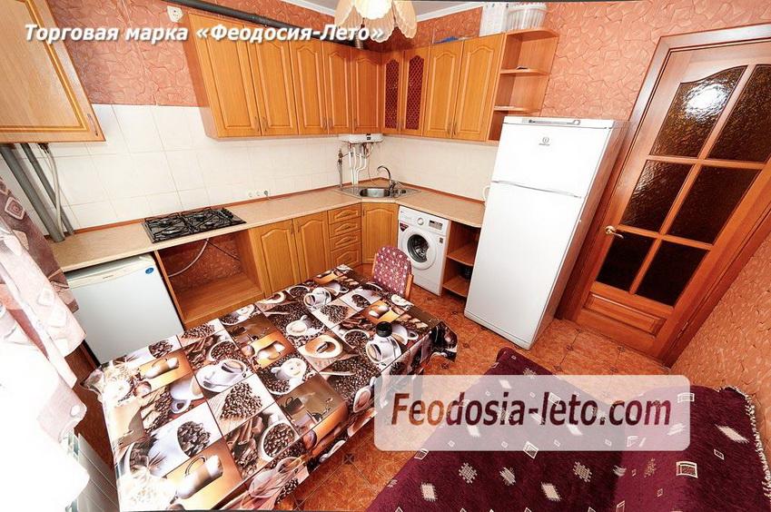 Просторная кухня в квартире, которая сдаётся посуточно в Феодосии