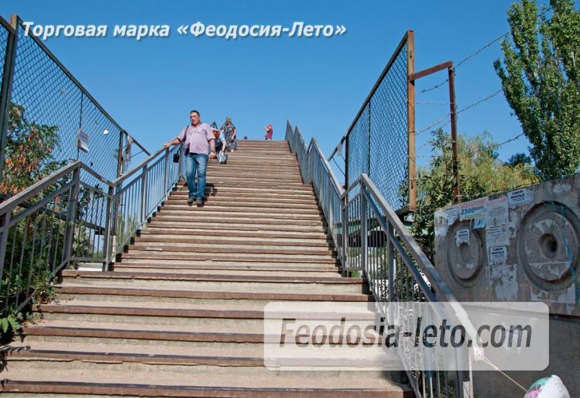Мост в Феодосии на станции Айвазовская на пути к Черноморской набережной и пляжу - фотография № 12