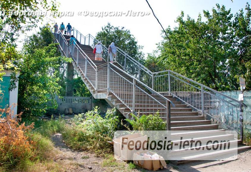 Мост в Феодосии на станции Айвазовская на пути к Черноморской набережной и пляжу - фотография № 2