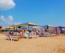 Песчаный пляж гостиницы в Феодосии - фотография № 1