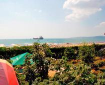 Песчаный пляж гостиницы в Феодосии - фотография № 6