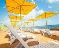 Пляж пансионата: - фотография № 2